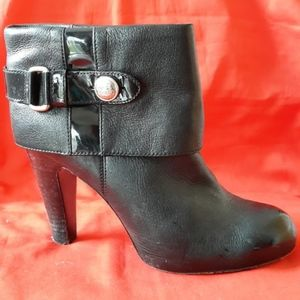 Coach Black Leather Booties Size 8.5
